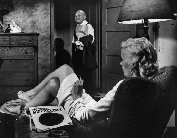 1934: A scene from the film 'A Wicked Woman', about a wife who kills her drunken husband. It was directed by Charles Brabin for MGM. Original Publication: Picture Post - 7822 - A Seat Beside The Censor - pub. 1955 (Photo by Frank Pocklington/Picture Post/Getty Images)